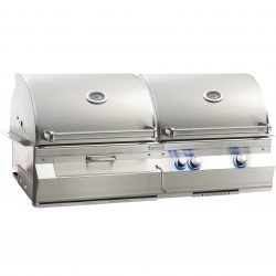 "Fire Magic Aurora A830i 46"" Built-in Gas/Charcoal Grill Combo, A830i-5EAN-CB"
