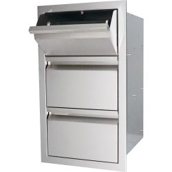 RCS Valiant Series Double Drawer w/ Paper Towel Holder, VTHC1